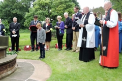 Tutbury War Memorial Rededication Service, 1st July 2016