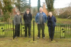 Instalation fo Wreath Holders at Tutbury Priory Church by Dragon Forge - Euan, Jamie, Davy and Cathy